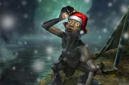 Gollum wisshes you a merry Christmases