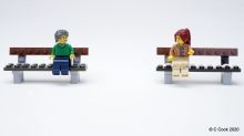 Mum makes scenes from lego to teach children about social distancing
