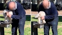 Residents furious after man washes dog in bubbler at popular park
