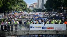 Venezuela opposition stages crisis protest march
