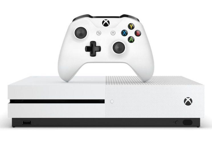 Microsoft's Xbox One S.