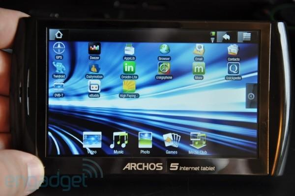 Archos 5 Internet Tablet makes an honest PMP out of Android