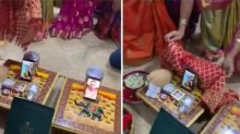 Watch, Gujarati family performs roka on video call