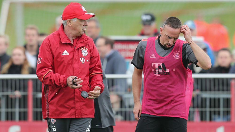 """Bayern Munich, Ancelotti : """"Ribéry est sorti parce qu'il n'a pas été bon"""""""