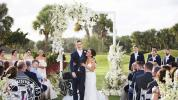 Player paralyzed after hit walks down the aisle