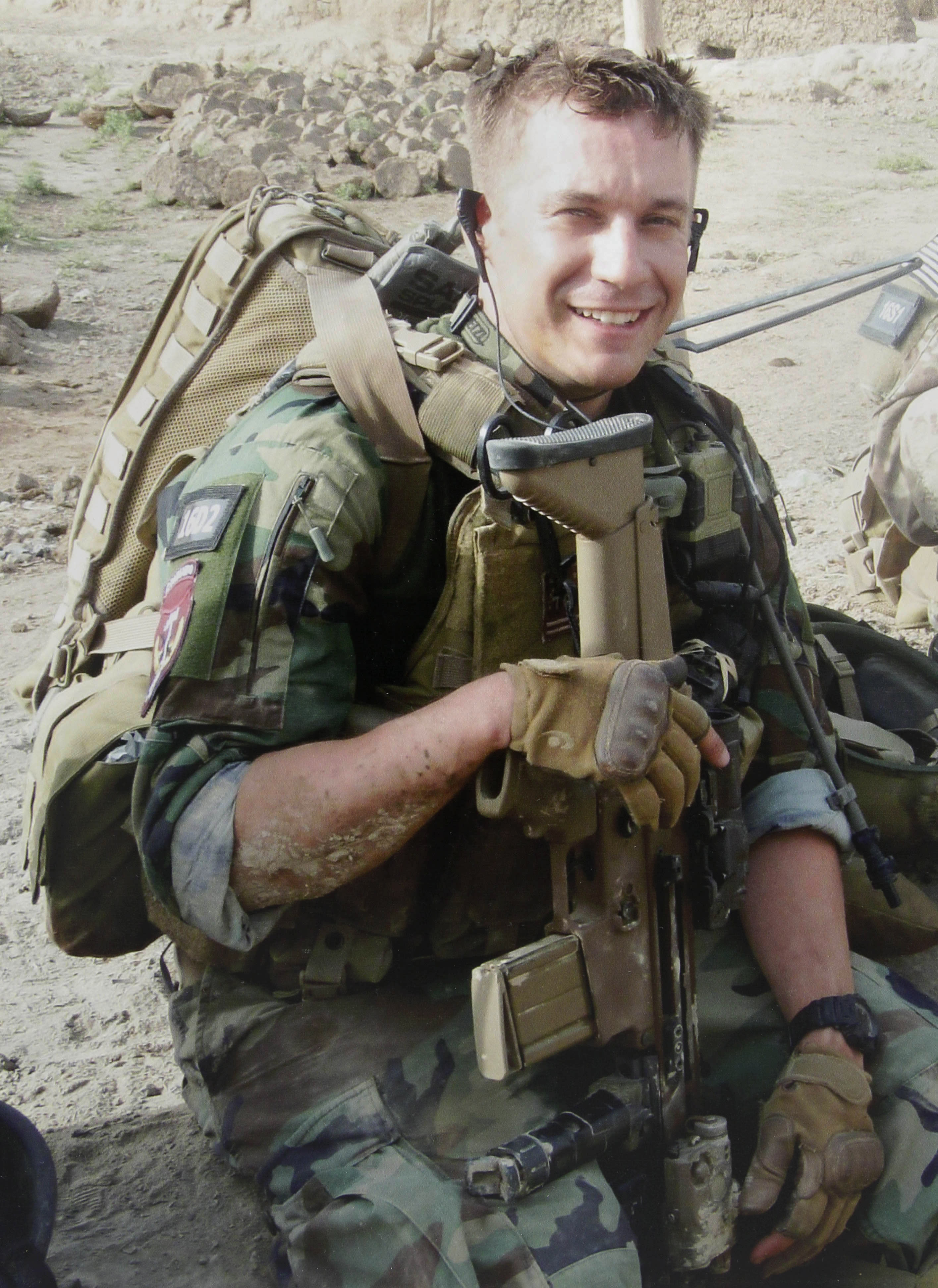 In this undated photo provided by the Wise family in Little Rock, Ark., U.S. Army Sgt. Ben Wise poses in a combat uniform. Wise died Jan. 15, 2012, in a hospital in Germany after being wounded in Afghanistan. (AP Photo/Courtesy of Wise Family)