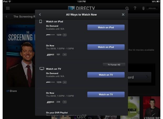 DirecTV's revamping its mobile apps with a focus on discovery, iPad is up first