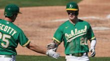Mark Canha 'likes idea' of being A's leadoff hitter as search continues