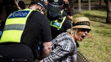 Melbourne anti-lockdown protesters arrested and chased by police on horseback