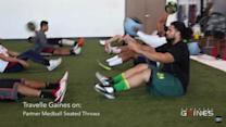 Athletic Gaines NFL Combine Training: Med Ball Seated Throws