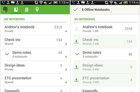Evernote for Android gets new offline notebooks, widgets and more
