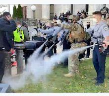 North Carolina Deputies Pepper-Spray Demonstrators Marching To Polls