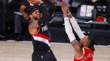 Carmelo Anthony delivers another last-minute Blazers bubble win