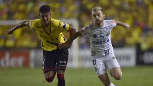 Santos abre o placar, sofre empate e leva bom resultado à Vila Belmiro