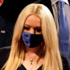 Tiffany Trump's Presidential Debate Look Includes a Classic Dress & Matching Face Mask