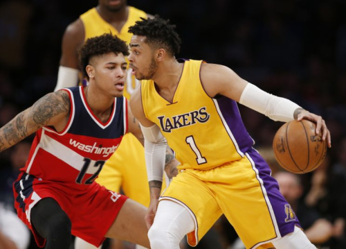 The Lakers dealt D'Angelo Russell in a cap-clearing move. (AP)