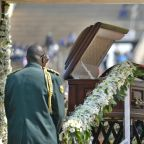 Jeered over attacks, S.Africa's president apologises at Mugabe funeral