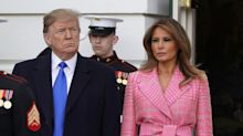 Melania Trump steps out in pink Fendi coat — and some think it looks like a 'very expensive' bathrobe