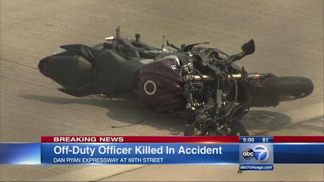 Off-duty CPD officer killed in Dan Ryan motorcycle crash, state police say