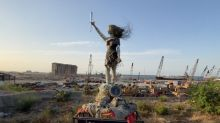 Lebanese Artist Creates Sculpture Out of Rubble From Beirut Blast
