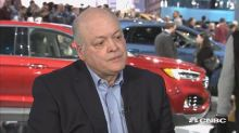 CEO Jim Hackett is confident Ford isn't falling behind rival automakers and tech firms