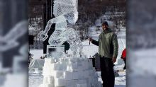 Filipino sculptor hailed 'King of Ice Carvings' in France