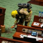 Banana, bean cake and fertiliser stunts in Hong Kong's legislature