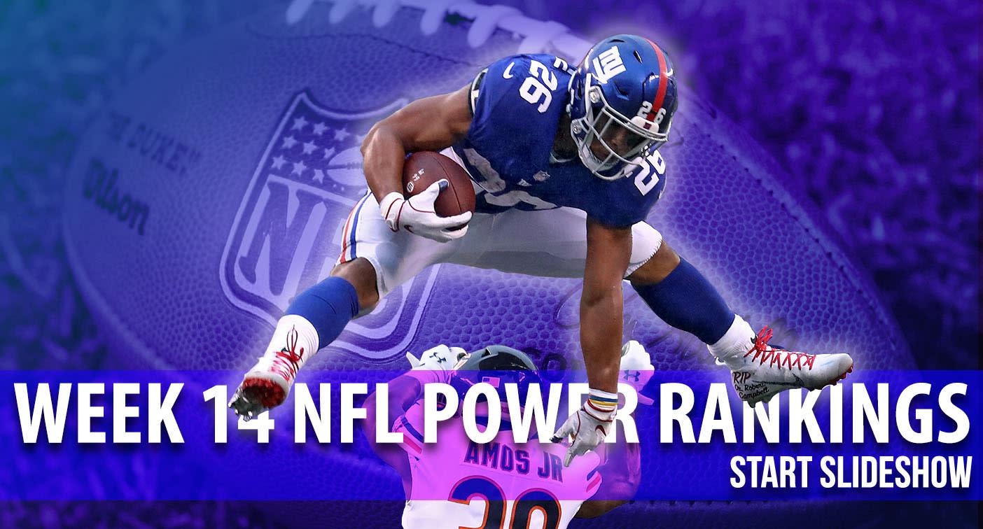 NFL Power Rankings – Week 14