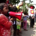Children join anti-coup protests in Myanmar