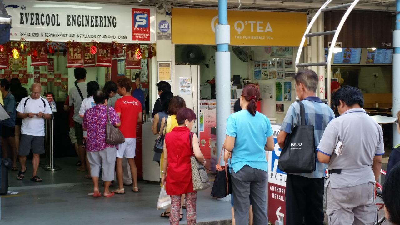 Long queues form at 'lucky' SGP outlets for $13 9 million