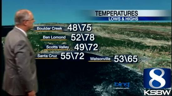 Watch your Tuesday night KSBW weather forecast 05.14.13
