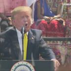 India throws Donald Trump the largest rally of his political career
