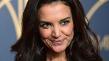 Katie Holmes' Latest Vampy Look Includes a Bodysuit & Strappy 4-Inch Heels