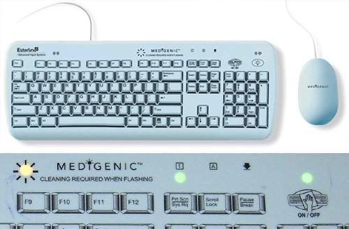 Medigenic Infection Control keyboard will be easy to clean when the zombies attack