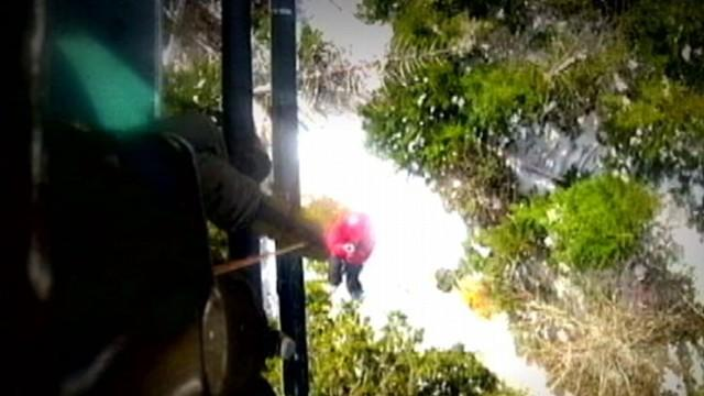 Life or Death Rescue of Trapped Hiker Caught on Video
