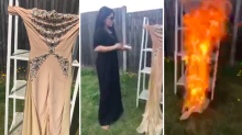 Afghan Singer Burns Skin-Colored Jumpsuit in Response to Fashion Shaming