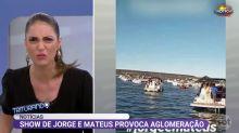 """Chris Flores critica Jorge e Mateus por aglomeração em show: """"Irresponsáveis, nojetos"""""""