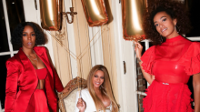 Beyonce slays in plunging post-Grammys look