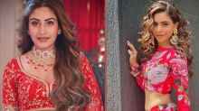 Aamna Sharif Or Surbhi Chandna, Whose Red Floral Ensemble Can Help You Get Good Pictures At Wedding?