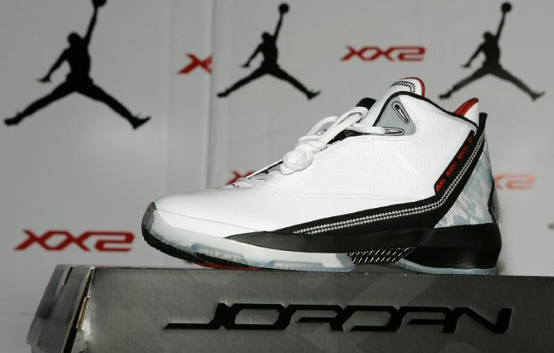 44396bbb5d8d47 An Air Jordan XX2 shoe is displayed during a launch party for the new line  at