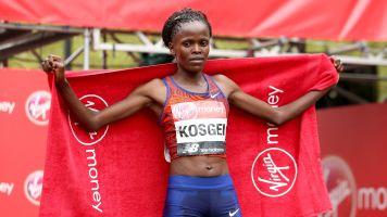 Brigid Kosgei surprises herself by beating Paula Radcliffe's marathon record