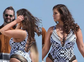b44c25e496578 Ashley Graham shows off cellulite in new swimsuit photo  Video