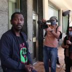 Black Lives Matter supporters protest outside US Consulate in Cape Town