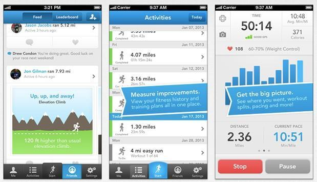 RunKeeper for iOS gets new social feed and leaderboard