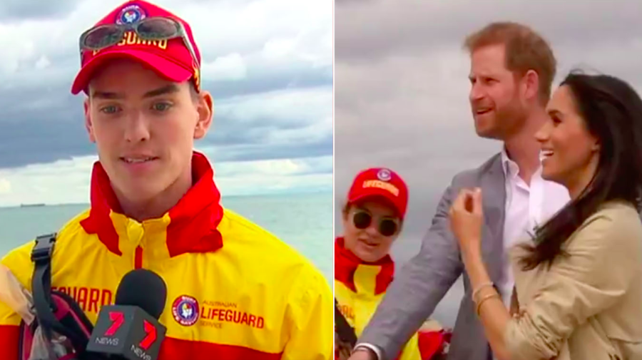 The hilarious comment Prince Harry made about a lifeguard's feet