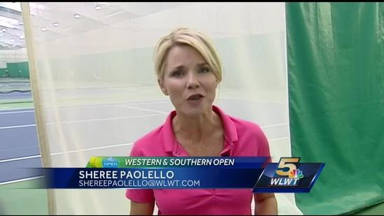 Sheree learns to play tennis