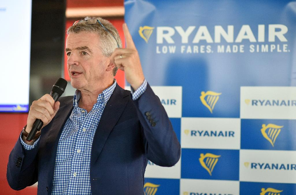 Ryanair chief executive Michael O'Leary speaks during a press conference on new flights from Toulouse at the Toulouse-Blagnac airport on September 27, 2016