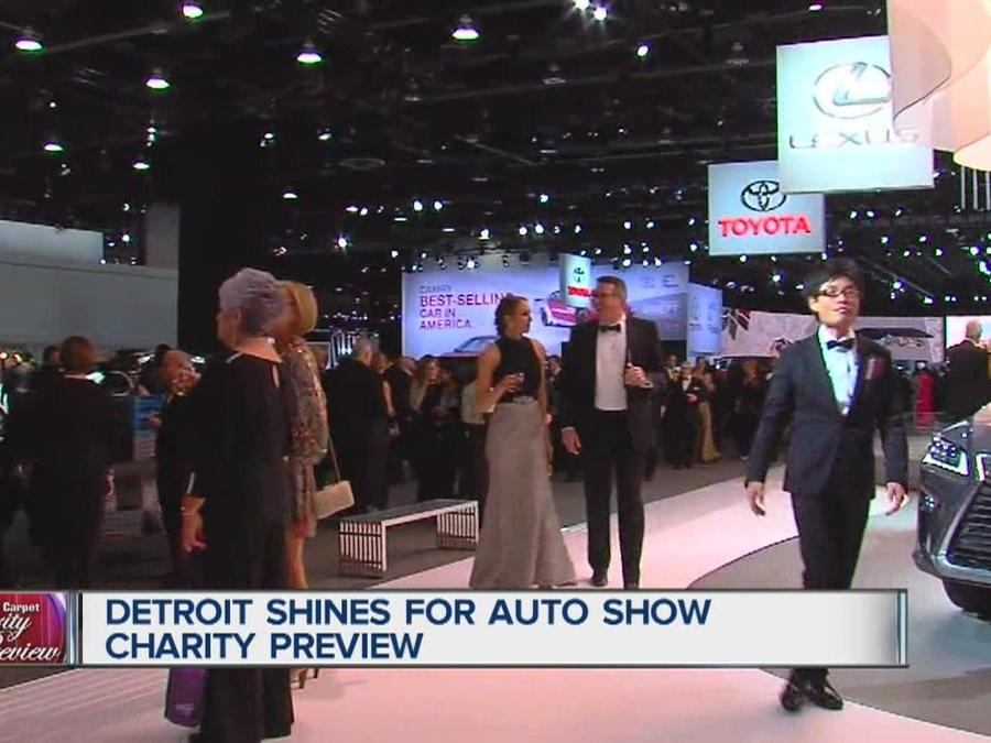 Detroit shines for auto show charity preview video for Charity motors auction in detroit mi