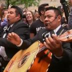 Mariachi band protests outside apartment of lawyer caught in racist rant video