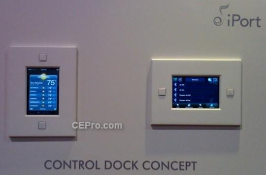 This in-wall iPod dock doubles as a home automation controller